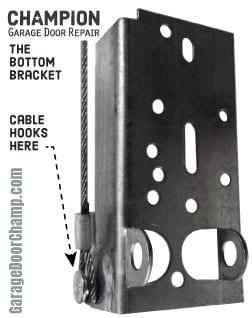 Garage Door Bottom Bracket
