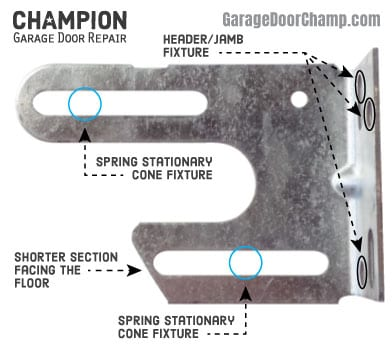 Garage Door Spring Anchor Bracket