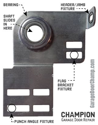 Garage Door End Bearing Plate