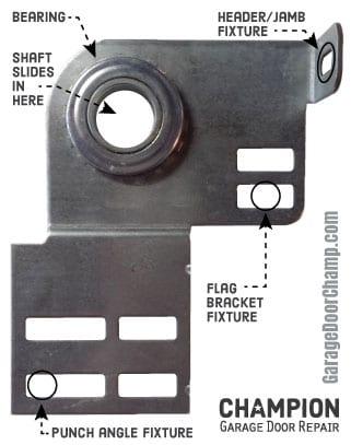 Garage Door End Bearing Plate