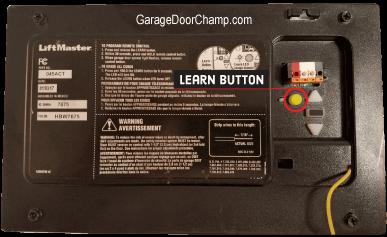 Garage Door Opener - Learn Button